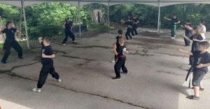 outdoor kung fu kids
